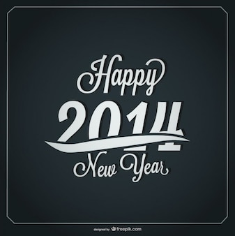 Feliz año nuevo diseño de tarjeta retro