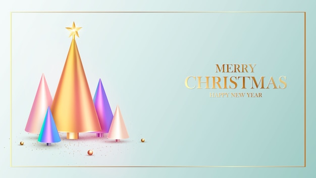 Feliz año nuevo. diseño de fondo de navidad, abeto, bolas decorativas.tarjeta de regalo festiva.