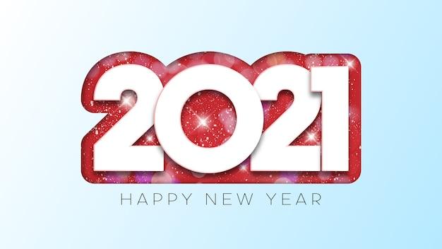 Feliz año nuevo diseño de texto.
