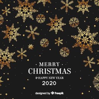 Feliz año nuevo dorado 2020