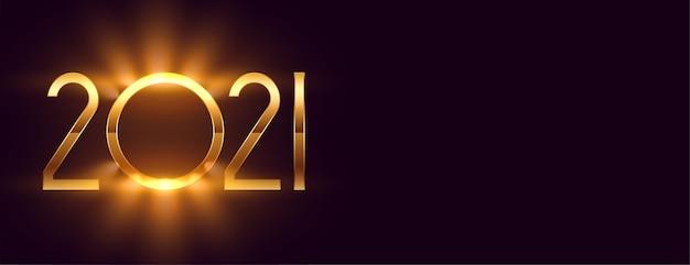 Feliz año nuevo dorado brillante sobre negro
