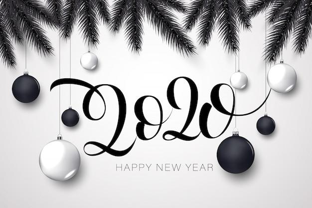 Feliz año nuevo dorado y negro