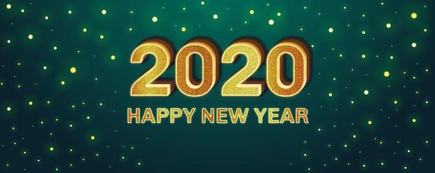 Feliz año nuevo efecto de fuente editable