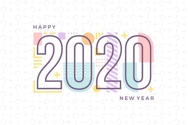 Feliz año nuevo estilo memphis
