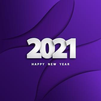 Feliz año nuevo fondo de corte de papel