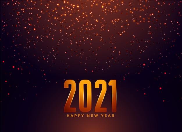 Feliz año nuevo fondo de luces