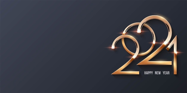 Feliz año nuevo fondo con números dorados