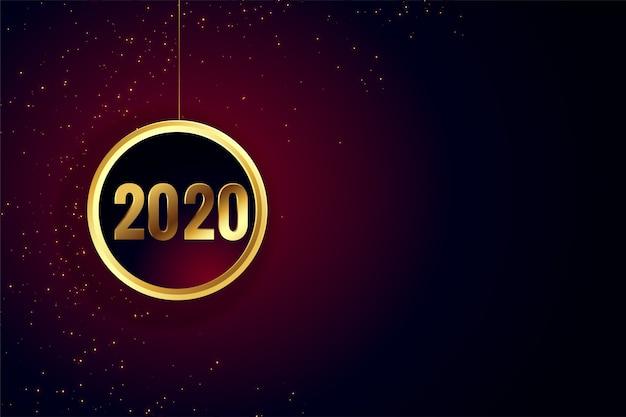 Feliz año nuevo fondo de pantalla dorado