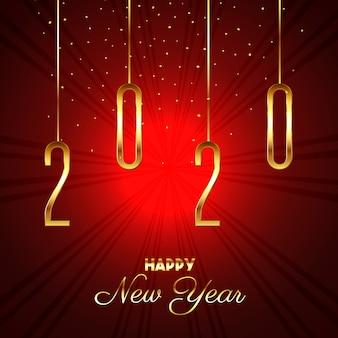 Feliz año nuevo fondo starburst