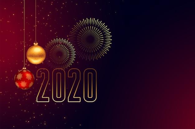 Feliz año nuevo fondo de tarjeta de felicitación de celebración