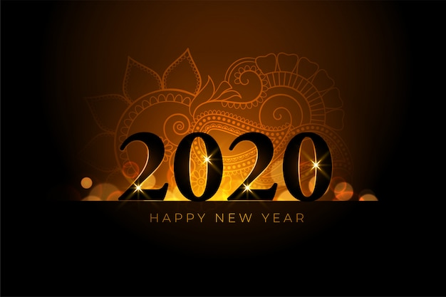 Feliz año nuevo hermoso fondo dorado