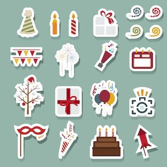 Feliz año nuevo iconos