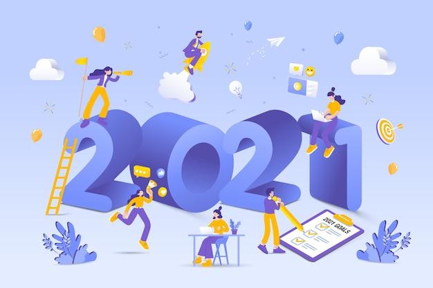 Feliz año nuevo ilustración