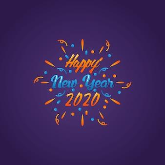 Feliz año nuevo inspiración impresionante