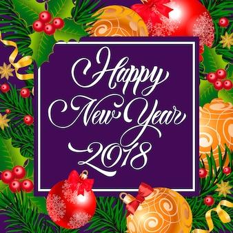 Feliz año nuevo letras en colores brillantes