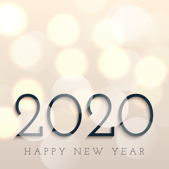 Feliz año nuevo con luces bokeh