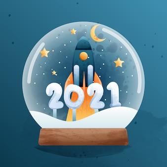 Feliz año nuevo con el nuevo objetivo en caja de música.