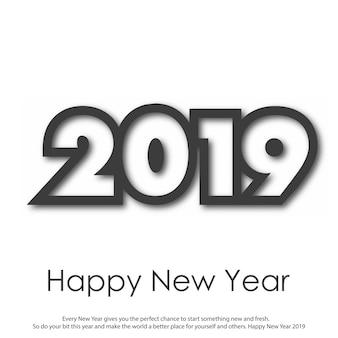 Feliz año nuevo o tarjeta de felicitación de navidad. 2019. vector