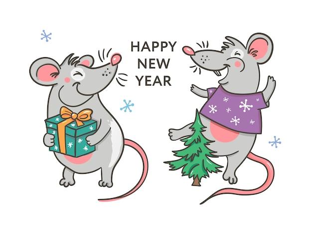 Feliz año nuevo con rata