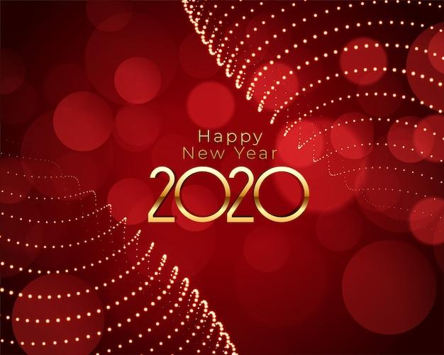 Feliz año nuevo rojo y oro hermoso fondo