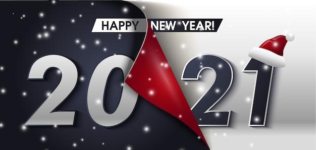 Feliz año nuevo saludo banner feliz año nuevo