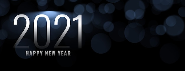 Feliz año nuevo sobre fondo de efecto de luz bokeh