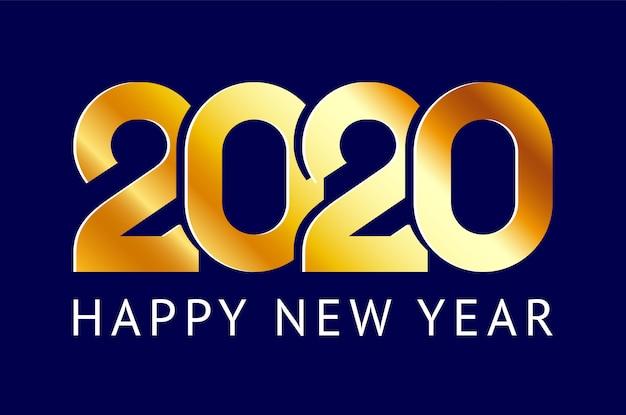 Feliz año nuevo tarjeta de felicitación. 2020 año chino de la rata