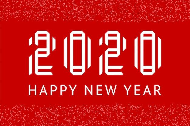 Feliz año nuevo tarjeta de felicitación 2020