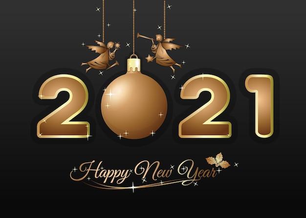 Feliz año nuevo . tarjeta de felicitación para navidad y año nuevo.