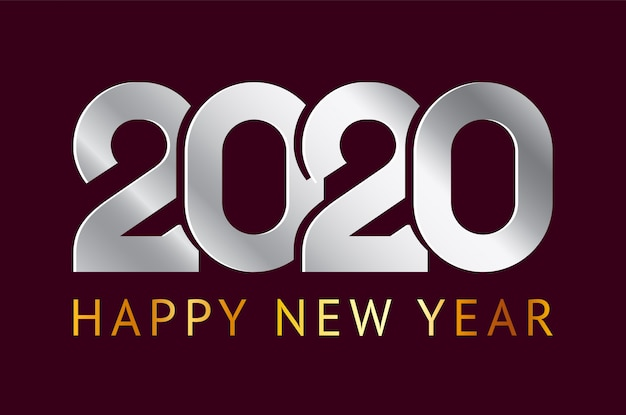 Feliz año nuevo, tarjeta de felicitación