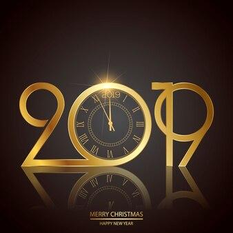 Feliz año nuevo y tarjeta de navidad.