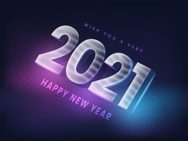 Feliz año nuevo veintiuno concepto