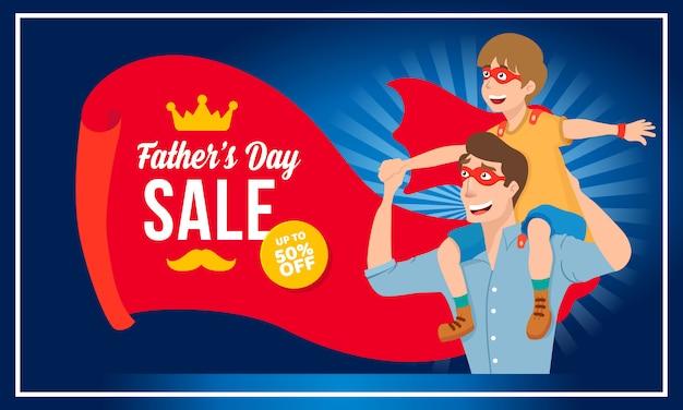 Feliz banner de venta del día del padre