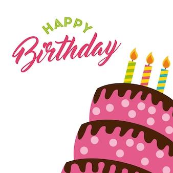 Feliz birrhday cake celebration