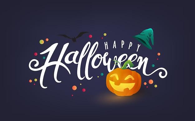 Feliz caligrafía de halloween.
