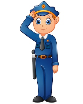 Feliz Caricatura De Policia Vector Premium Clown personalizado para entregas sorpresa por el dia de la madre. feliz caricatura de policia vector