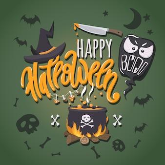 Feliz cartel de halloween