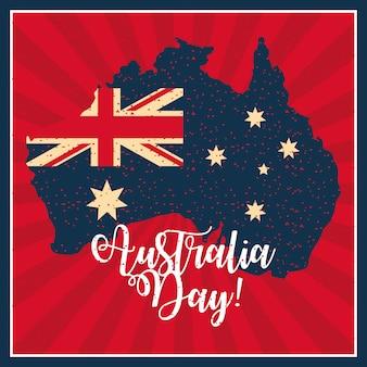 Feliz celebración del día de australia