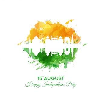 Feliz celebración del día de la independencia de la india - 15 de agosto
