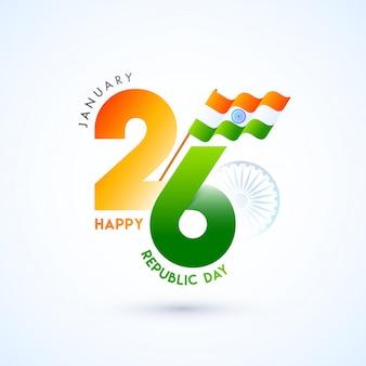 Feliz celebración del día de la república