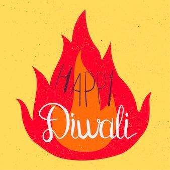 Feliz celebración de diwali banner