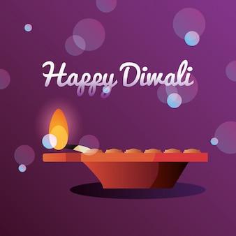 Feliz celebración de diwali