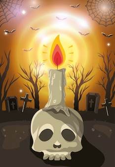 Feliz celebración de halloween, diseño de celebración
