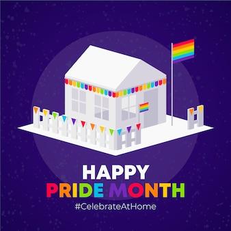Feliz celebración del mes del orgullo en casa