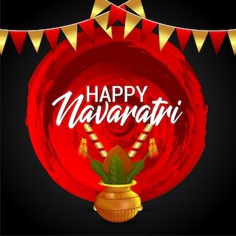 Feliz celebración navaratri con palitos dandiya