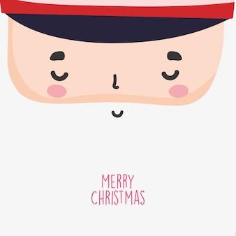 Feliz celebración de navidad linda cara de soldado cascanueces con sombrero