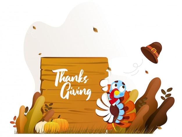 Feliz concepto de acción de gracias.