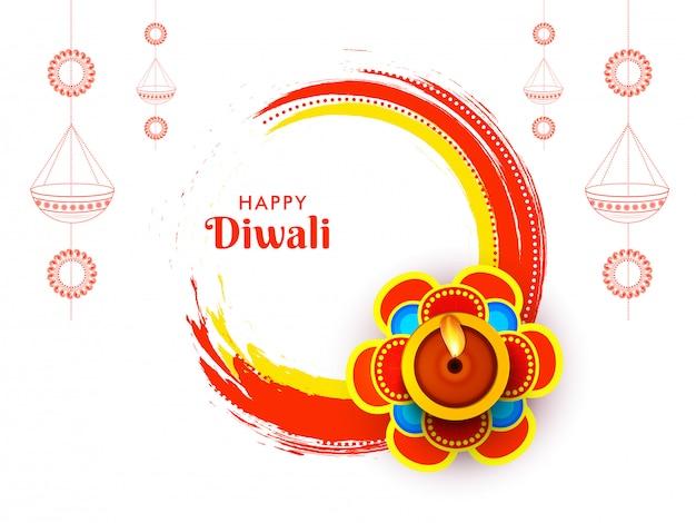Feliz concepto de celebración de diwali.