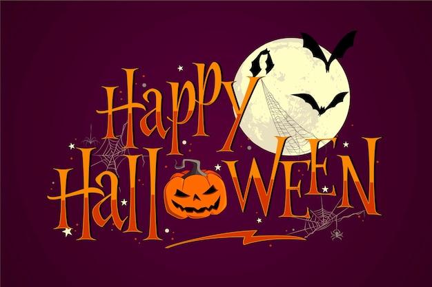 Feliz concepto de letras de halloween