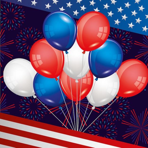Feliz cuarto de julio. dia de la independencia de estados unidos